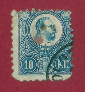 Hungría - 10 Kr - 1871 - Used Stamps