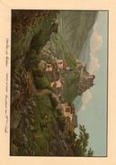 Chateau De Tarasp Veritable Gravure De 1941 (23cm X 16 Cm) Bon Etat - GR Grisons