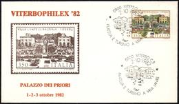 ITALIA VITERBO 1982 - VITERBOPHILEX ´82 - FILATELIA E TURISMO A VILLA LANTE