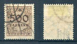 Deutsches Reich Michel-Nr. 313 Gestempelt - Geprüft