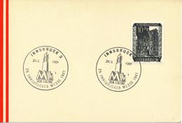 ÖSTERREICH - Sonderstempel - Mi,Nr,  858       29.9,1961   Innsbrucker Messe - Poststempel - Freistempel