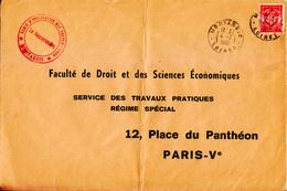 1965 - Lettre - TàD De Montargis + Tampon De L'École D'application Des Transmissions - FRANCODE PORT - Military Postmarks From 1900 (out Of Wars Periods)