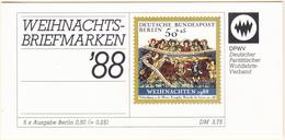 ALLEMAGNE - BERLIN - 1988 - Carnet Noël