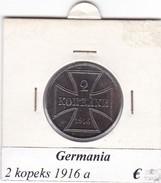 GERMANIA  2  KOPEKS  1916  1916 LETTERA A  COME DA FOTO - [ 2] 1871-1918 : Impero Tedesco