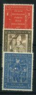 LUXEMBOURG  ( POSTE ) :Y&T N°  542/544  TIMBRES  NEUFS  SANS  TRACE  DE  CHARNIERE  , A  VOIR .
