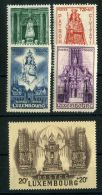 LUXEMBOURG  ( POSTE ) :Y&T N°  367/371  TIMBRES  NEUFS  AVEC  TRACE  DE  CHARNIERE  , A  VOIR .
