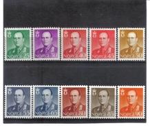 GUT413 NORWEGEN 1958  MICHL  418/27 ** Postfrisch  SIEHE ABBILDUNG - Norwegen