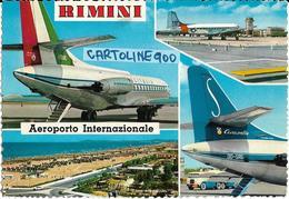 Aeroporto Internazionale Rimini Emilia Romagna Vedute Dello Scalo Aerei In Pista Rifornimento Carburante Anni 60/70 - Aerodromi