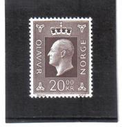 GUT419 NORWEGEN 1969  MICHL  593 ** Postfrisch  SIEHE ABBILDUNG - Norwegen