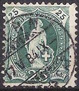14 Vertikalzähne KZ I 1882: Zu 67Aa Mi 59XA Yv 72 - 25c Grün Mit O BERN 17.V.84 (Zu CHF 4.00)