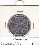 GERMANIA  3  KOPEKS  1916  LETTERA J  COME DA FOTO - [ 2] 1871-1918 : Impero Tedesco
