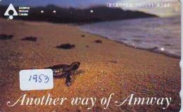 Télécarte Japon * TURTLE *  (1953) PHONECARD JAPAN * * TORTUE *   TELEFONKARTE * SCHILDKRÖTE - Turtles