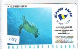Télécarte Japon * TURTLE *  (1954) PHONECARD JAPAN * * TORTUE *   TELEFONKARTE * SCHILDKRÖTE - Turtles