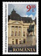 Romania 2014 Set - 100 Years Since The Inauguration Of The Carol I University Foundation Palace - 1948-.... Repubbliche