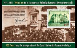 Romania 2014 Souvenir Sheet - 100 Years Since The Inauguration Of The Carol I University Foundation Palace - 1948-.... Repubbliche
