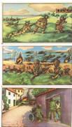 C Oorlog 40/45 Guerre 40/45 5 Prentjes Uitgegeven Door Trefin - Guerre 1939-45