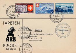Lettre Zurich Via Geneve Meldeflug Pour Bern