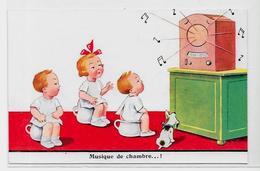 CPA Radio TSF Télégraphie Enfant Pot De Chambre Non Circulé - Industry