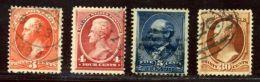 USA 1887/8 USED LOT - 1847-99 Unionsausgaben