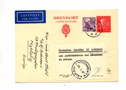 Carte Postale 20 + Timbre Roi Cachet Nyköping