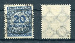 Deutsches Reich Michel-Nr. 319Wa Gestempelt - Geprüft