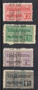ALGERIE COLIS POSTAL N°10, 12, 13 ET 14 N* - Algérie (1924-1962)