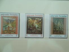 1988 Polynésie Française Yvert  303/5 ** Peintures Sur Tapa Paintings Scott Xx Michel 503/5  SG Xx - Polynésie Française