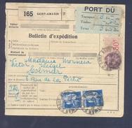 Colis Postal  Alsace Lorraine En Port Dû (pas Courant) De 3,50 Frs Saint Amarin Pour Colmar 16/09/1937 TB