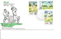 Cricket ( FDC De Fidji De 1974 à Voir)