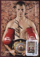 Biber Post, Autogramm Auf Maxikarte Mi 152 Robert Stieglitz WBO Weltmeister 0,45 Glatt Langer UPOC BP094