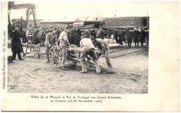 71 LE CREUSOT - Visite De Sa Majesté Le Roi De Portugal Aux Usines Schneider Au Creusot   (Recto/Verso) - Le Creusot