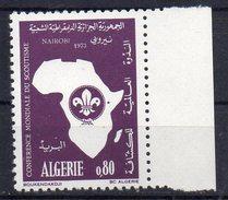 -75% Sur La Cote Algérie Algeria 1973 Neuf** Y&T 574 Conférence Mondiale Du Scoutisme- NAIROBI Algeria MNH**  Scouting - Nuevos