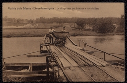 LIVES BRUMAGNES Sur Meuse ( Env. Namur  ) - LE CHARGEMENT DES BATEAUX ET VUE DE BEEZ - RARE !! - Non Classés