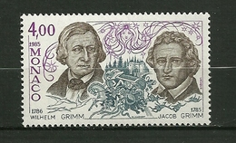 """MONACO. 1985  N°1502  """"  Ecrivains Et  Musiciens Célèbres  ( Frères Grimm  Bicentenaire ) """"   NEUF - Monaco"""
