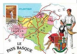 La Pelote Basque - CM Avec Oblit. Biarritz Du 19.03.2005 ( Portraits De Région ) - Cartes-Maximum