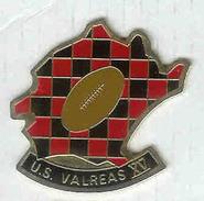 @@ Rugby XV Ballon U.S VALREAS Rouge Et Noir Vaucluse (3.5x3.5) @@sp168 - Rugby