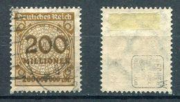 Deutsches Reich Michel-Nr. 323W Gestempelt - Geprüft