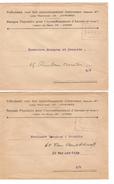 2 Lettres - Omslagbrieven Banque Populaire-Volksbank C.Fortune ? Te Bestellen 15&16 Mai 1919 V.E/V PR4688 - Postmark Collection