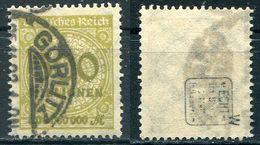 Deutsches Reich Michel-Nr. 324W Gestempelt - Geprüft - Deutschland