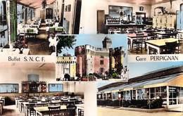 [66] Pyrénées Orientales > PERPIGNAN Buffet S.N.C.F Gare (Multi Vues Editions : Buffet S.N.C.F Mouche Propr.* PRIX FIXE - Perpignan