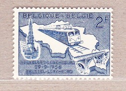 1956 Nr 996** Postfris Zonder Scharnier,spoorlijn Brussel - Luxemburg.