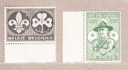 1957 Nr 1022-23** Postfris Zonder Scharnier.Scoutisme.