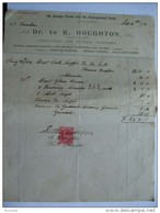 GB EDWARD VII 1904 UNDERTAKERS RECEIPT