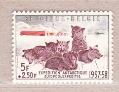 1957 Nr 1030* Postfris Met Scharnier.Zuidpoolexpeditie.OBP 2,5 Euro.