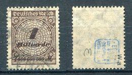 Deutsches Reich Michel-Nr. 325Wa Gestempelt - Geprüft
