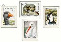 NB- [1652/55] Belgique 1972, Oiseaux De La Réserve Naturelle Du Zwin (Knokke), Série Complète, SNC
