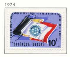 NB- [1732] Belgique 1974, 50 Ans Du ROTARY INTERNATIONAL, Drapeaux, SNC