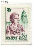NB- [1776] Belgique 1975, Année Internationale De La Femme, Marie Popelin, SNC