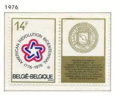 NB- [1797] Belgique 1976, 200 Ans De La Révolution Américaine, Symbole Et Sceau De L'Etat De New York,  Avec Vignette Sa