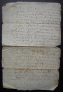 16?? Paroisse D'Aumagne Charente Document Famille Brahomet à Déchiffrer - Manoscritti